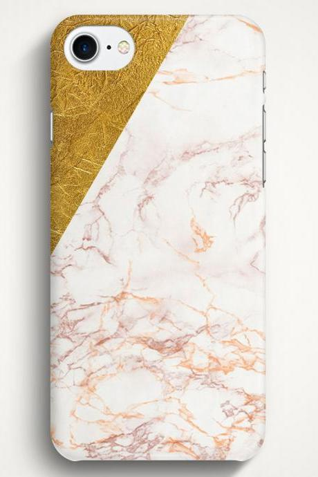 Gold Marble Texture Case For iPhone 7 iPhone 7 Plus Samsung Galaxy S8 Galaxy S7 Galaxy A3 Galaxy A5 Galaxy A7 LG G6 LG G5 HTC 10