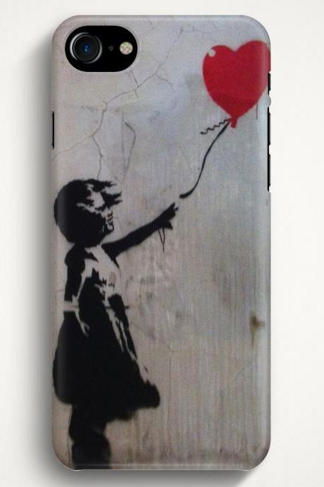 Girl with balloon on Case For iPhone 7 iPhone 7 Plus Samsung Galaxy S8 Galaxy S7 Galaxy A3 Galaxy A5 Galaxy A7 LG G6 LG G5 HTC 10