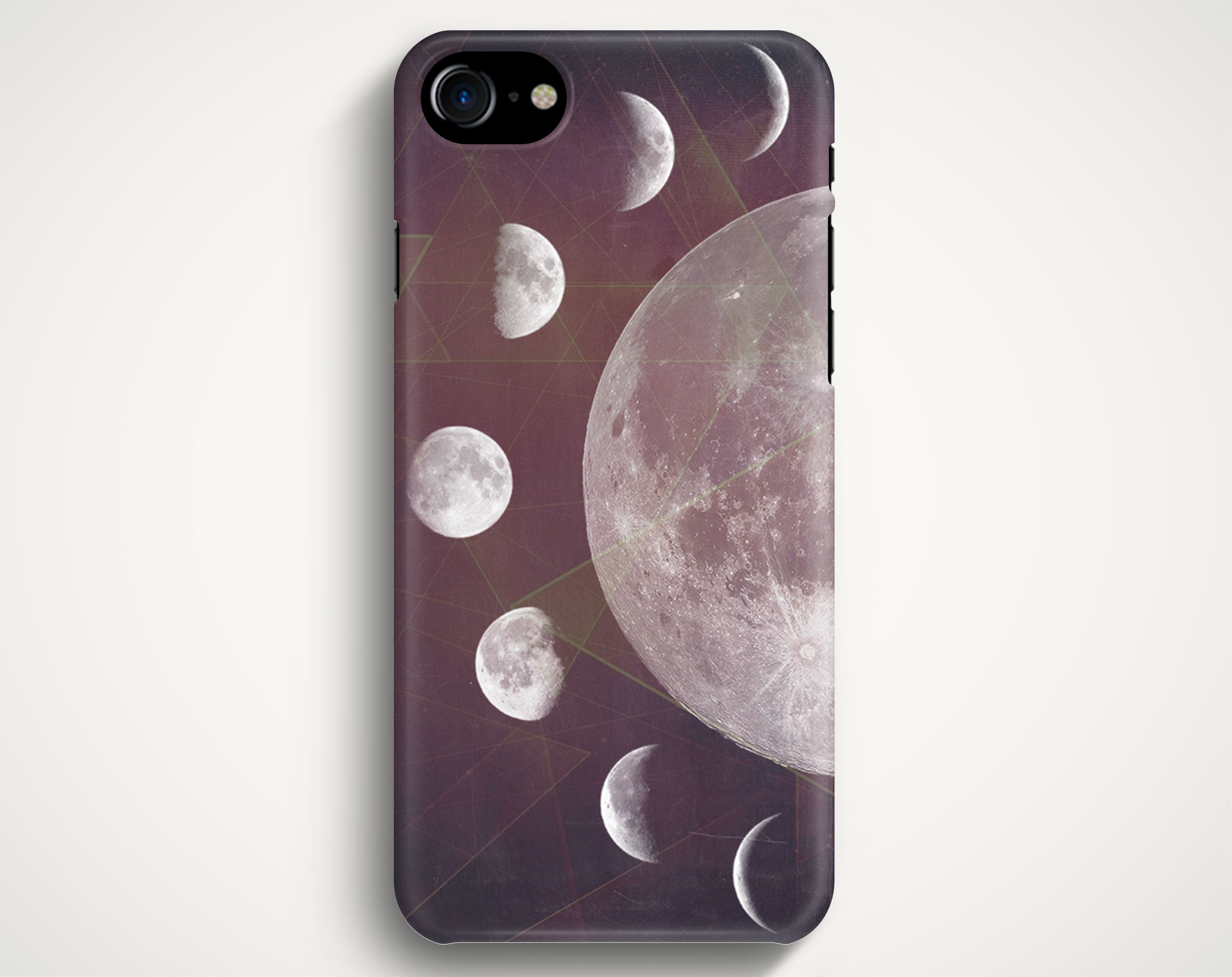 new products 735dc 3e094 Moon Phases Geometric Case For IPhone 7 IPhone 7 Plus Samsung Galaxy S8  Galaxy S7 Galaxy A3 Galaxy A5 Galaxy A7 LG G6 LG G5 HTC 10